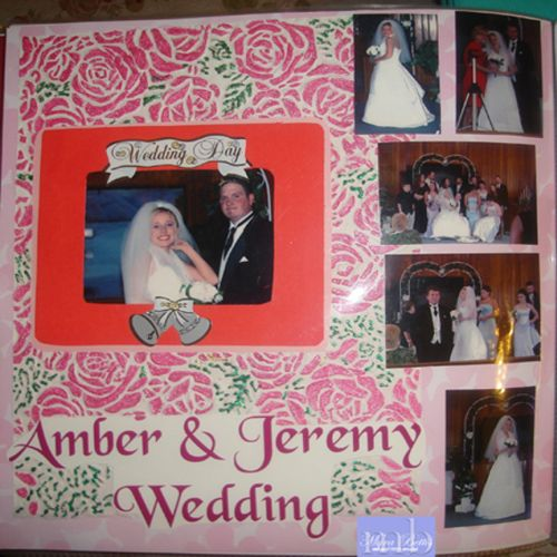 Wedding Scrapbooking Layout by Loretta