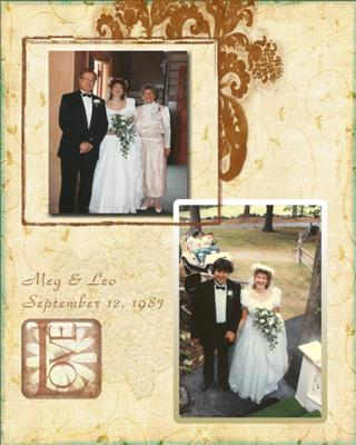 Scrapbook Photo for Meg and Leo wedding